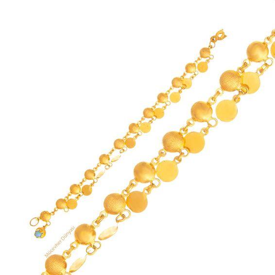 Mücevher Dünyası - 22 Ayar Tohumlu Nohutlu Altın Bileklik - 5,15 Gr.