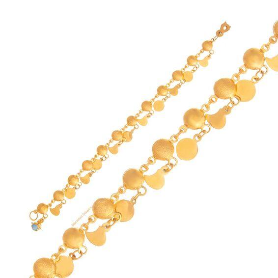 Mücevher Dünyası - 22 Ayar Tohumlu Nohutlu Çocuk Altın Bileklik - 5,05 Gr.