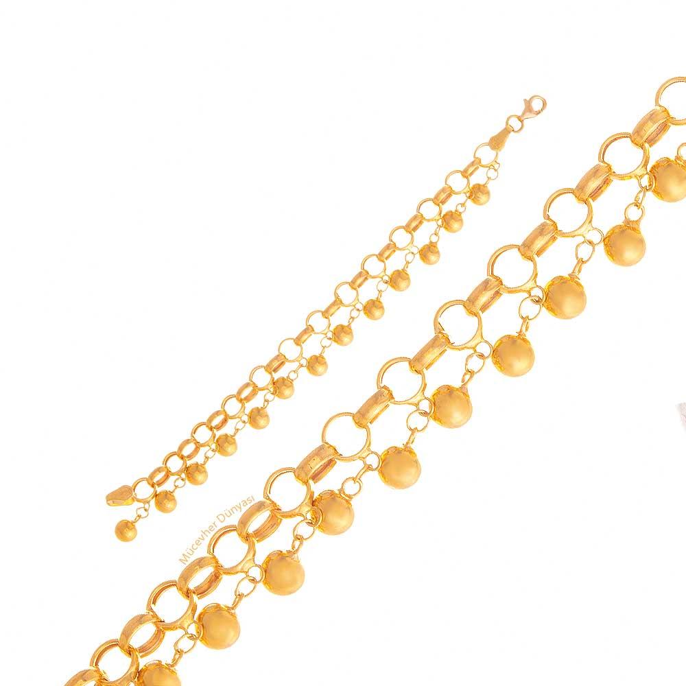 Mücevher Dünyası - 22 Ayar Tohumlu - Nohutlu Çocuk Altın Bileklik - 7,88 Gr.