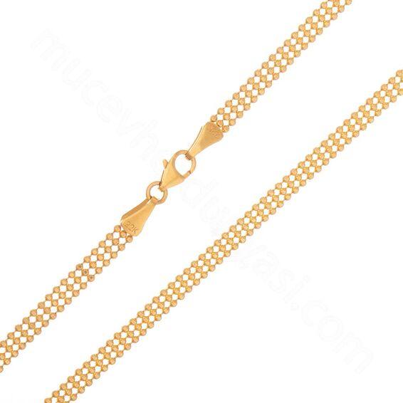 Mücevher Dünyası - 22 Ayar Toplu Altın Zincir - 70 Cm - 13,91 Gr.