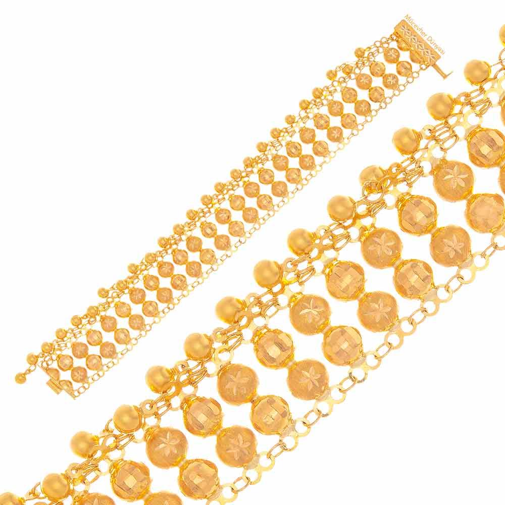 Mücevher Dünyası - 22 Ayar Toplu - Nohutlu Altın Bileklik - 29,15 Gr.