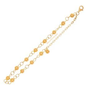 Mücevher Dünyası - 22 Ayar Toplu Nohutlu Altın Bileklik - 5.74 Gr.