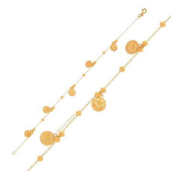 Mücevher Dünyası - 22 Ayar Tuğralı Dorika Altın Bileklik - 4,41 Gr.