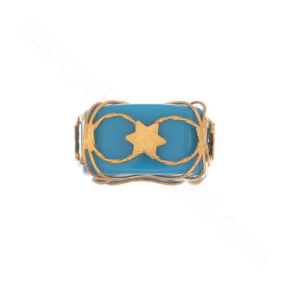 Mücevher Dünyası - 22 Ayar Yıldızlı Altın Kolye Ucu - 0,48 Gr.