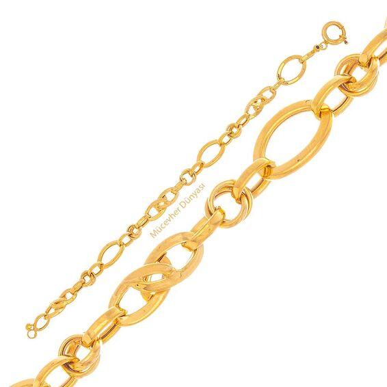 Mücevher Dünyası - 22 Ayar Zincir Altın Bileklik - 10,68 Gr.