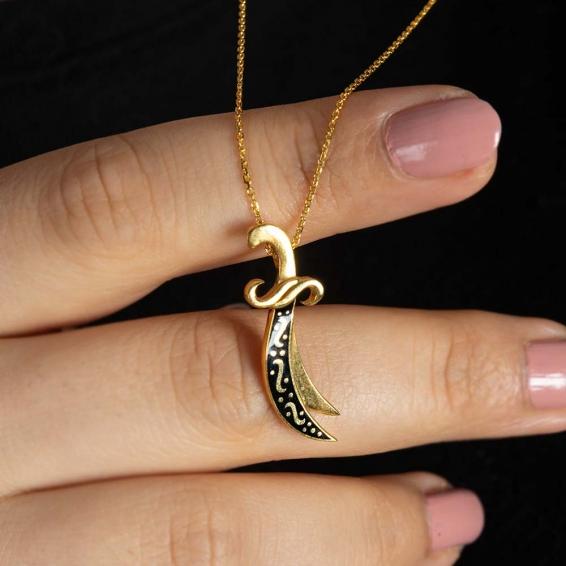 Mücevher Dünyası - 22 Ayar Zülfikar Altın Kolye - 4,03 Gr.