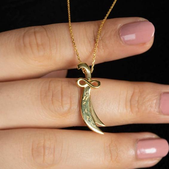 Mücevher Dünyası - 22 Ayar Zülfikar Altın Kolye - 4,12 Gr.