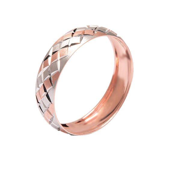 Mücevher Dünyası - 14 Ayar Baklava Desenli Altın Alyans (Erkek)