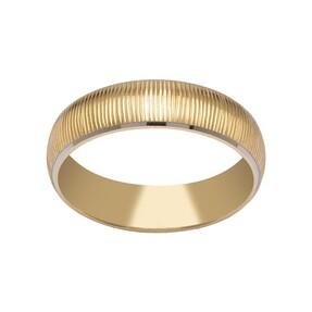 14 Ayar Çizgili Altın Alyans (Erkek) - Thumbnail
