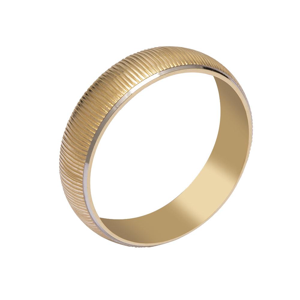 Mücevher Dünyası - 14 Ayar Çizgili Altın Alyans (Erkek)