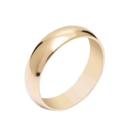 Mücevher Dünyası - 14 Ayar Klasik Kalın Altın Alyans (Erkek)