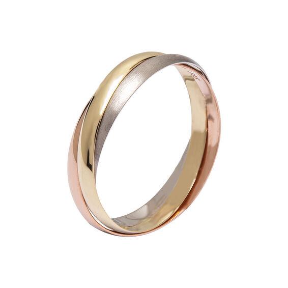 Mücevher Dünyası - 14 Ayar Mat Renkli Altın Alyans (Erkek)