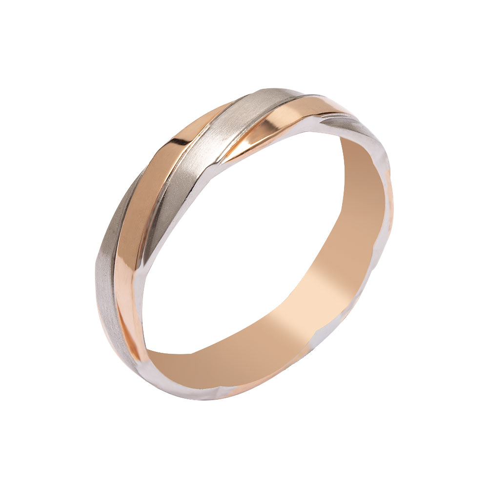 Mücevher Dünyası - 14 Ayar Örgü Altın Alyans (Erkek)