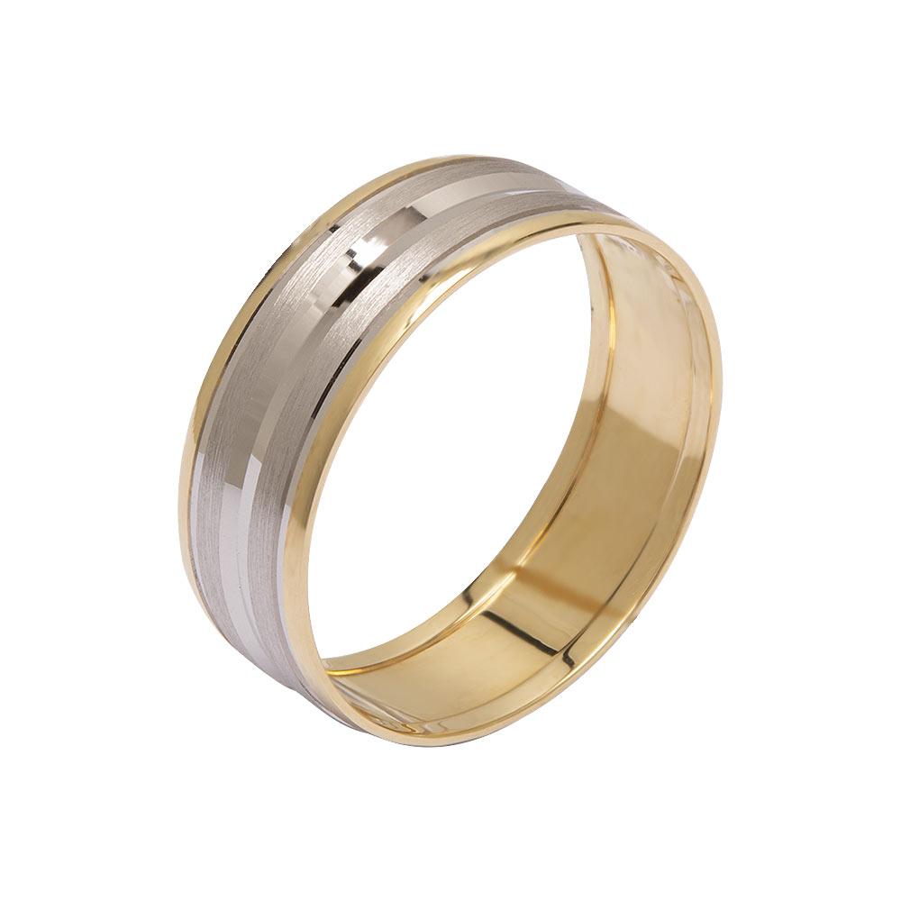Mücevher Dünyası - 14 Ayar Özel Tasarım Altın Alyans (Erkek)