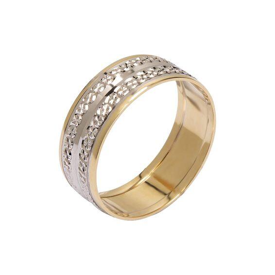 Mücevher Dünyası - 14 Ayar Özel Tasarım Altın Alyans (Kadın)