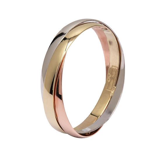 Mücevher Dünyası - 14 Ayar Parlak Renkli Altın Alyans (Erkek)