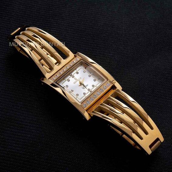Paslanmaz Çelik Revello Kadın İnce Kaburga Saat Altın Sarısı