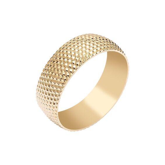 Mücevher Dünyası - 14 Ayar Petek Altın Alyans (Erkek)