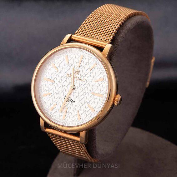 Mücevher Dünyası - Revello Altın Sarısı Hasır Kordonlu Kadın Kol Saati 80041917