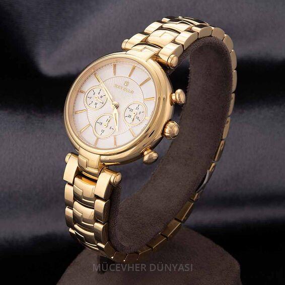 Mücevher Dünyası - Revello Altın Sarısı Metal Kordon Kadın Kol Saati 80041627