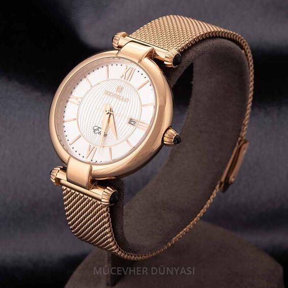 Mücevher Dünyası - Revello Bakır Renkli Hasır Kordonlu Kadın Kol Saati 80046080