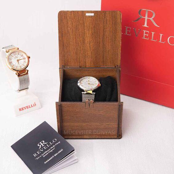 Revello Lacivert Metal Kordonlu Sırataşlı Kadın Kol Saati 80042358