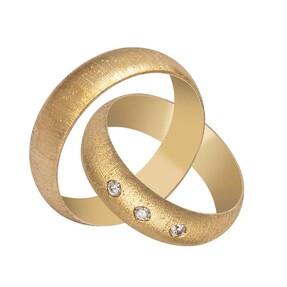 14 Ayar Simli Altın Alyans (Erkek) - Thumbnail