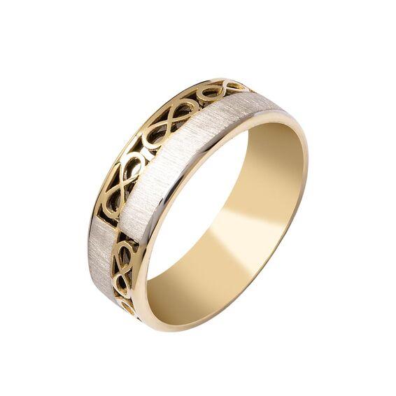 Mücevher Dünyası - 14 Ayar Sonsuzluk Altın Alyans (Erkek)