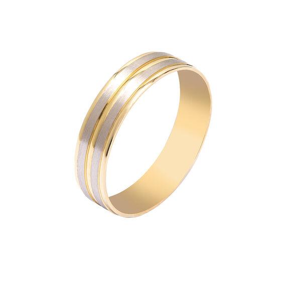 Mücevher Dünyası - 14 Ayar Tam Tur Altın Alyans (Erkek)