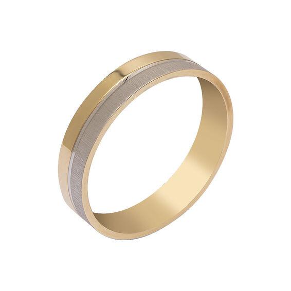 Mücevher Dünyası - 14 Ayar Tasarım Altın Alyans (Erkek)